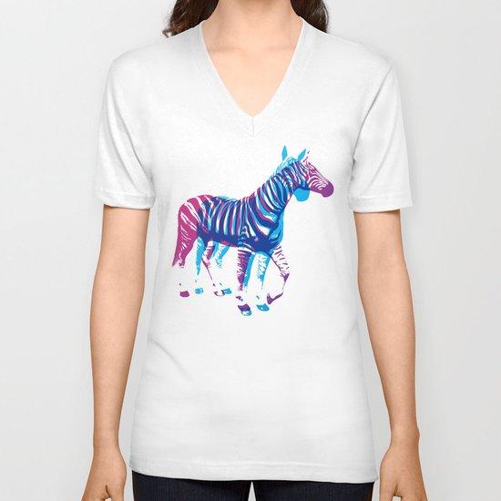 Zebras V-neck T-shirt