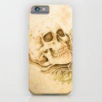 iPhone & iPod Case featuring skull4 by Duygu Kondoglu