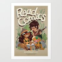 Read Comics Poster Art Print