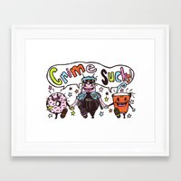 Crime!!! Framed Art Print