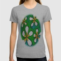 PLUMERIA Womens Fitted Tee Athletic Grey SMALL