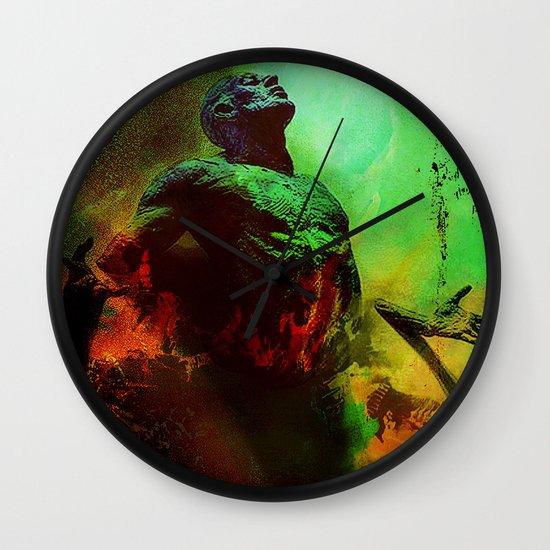 Soul in the purgatory Wall Clock