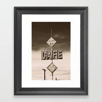 24 Hour Cafe  Framed Art Print