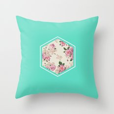 Floribus Sextae Throw Pillow