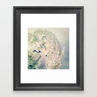 Romantic Hydrangea Framed Art Print