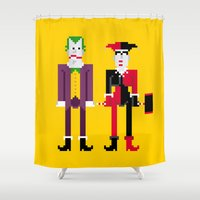 Joker And Harley Quinn Shower Curtain