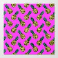 Neo-Pineapple - Miami Canvas Print