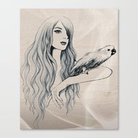 Parrot Girl 2 Canvas Print