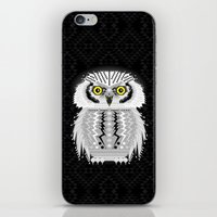 Geometric Snowy Owl iPhone & iPod Skin
