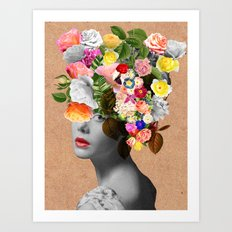 Mary Floral Art Print