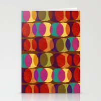 Collage and digital circle pattern Stationery Cards