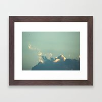 smoke glider Framed Art Print