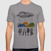 cloudy days for uppercase mag Mens Fitted Tee Athletic Grey SMALL