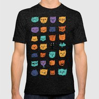 Stylish Cats Mens Fitted Tee Tri-Black SMALL