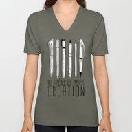 Unisex V-Neck featuring Weapons Of Mass Creation by Bianca Green