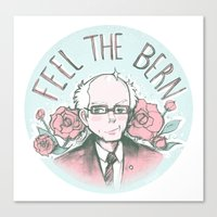 Feel The Bern Nee-san! Canvas Print