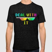 Deal With It Mens Fitted Tee Tri-Black SMALL