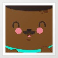Bear Dad Art Print