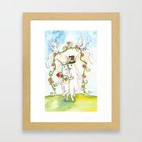 Rabbit Wedding Framed Art Print