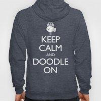 Keep Calm & Doodle On (Green) Hoody