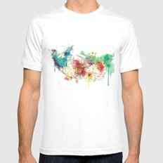 Paradise Mens Fitted Tee White SMALL