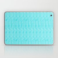 Freeform Arrows in turquoise Laptop & iPad Skin