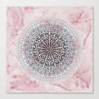 ICELAND MANDALA IN PINK Canvas Print