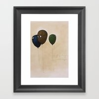 Fly High Wide Eyes Framed Art Print