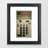 Calculator Framed Art Print