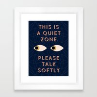 Quiet Zone Framed Art Print