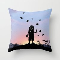 Joker Kid Throw Pillow