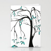Abstract Tree Blossoms A… Stationery Cards