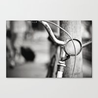 Bicycle B/W Canvas Print
