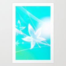 LADY LEAF IN THE HEAVEN Art Print