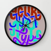 You're Just My Type Wall Clock