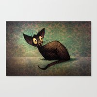 Funny Oriental Cat Canvas Print