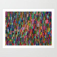 Traffic in India Art Print
