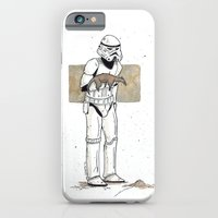 iPhone & iPod Case featuring A Stormtrooper and His Baby Anteater by Donta Santistevan