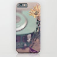 daisies with vintage radio iPhone 6 Slim Case