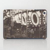 Fuzzy Carousel - B&W iPad Case