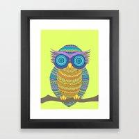 Henna Owl Framed Art Print