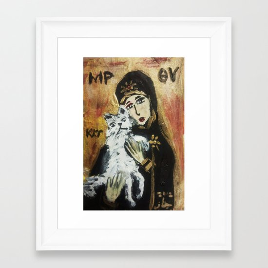 OUR LADY OF CATS 2 Framed Art Print