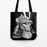 Samurai Helm Tote Bag