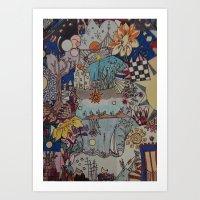 Light doodles Art Print