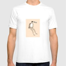Care for a bite?  Mens Fitted Tee White SMALL