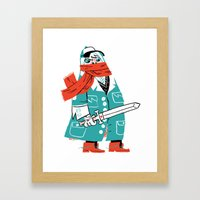Creepy Scarf Guy Framed Art Print