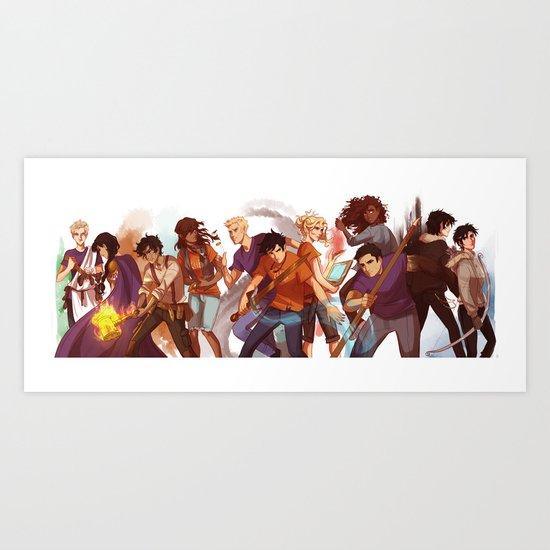 Heroes Of Olympus Art Print By Viria Society6