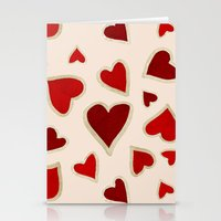 Ditsy Dark Hearts For Lo… Stationery Cards