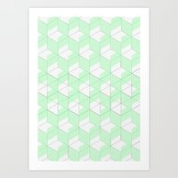 Mint Crush Art Print