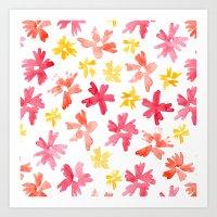 Sunny Florals Art Print